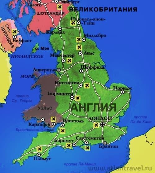 Англия картинка карта